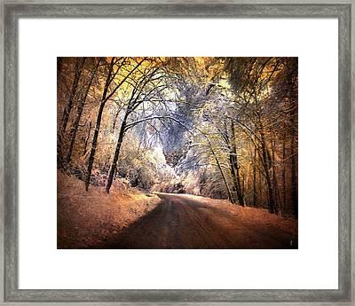 Icy Road Framed Print by Jai Johnson