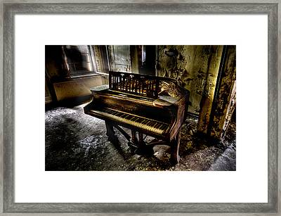 If Music Be The Food Of Love.... Framed Print by Steven Coppenbarger