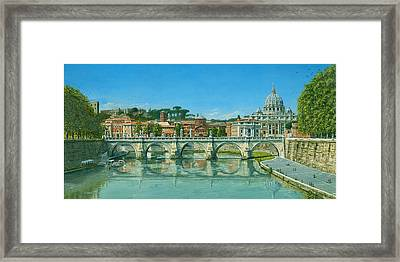 Il Fiumi Tevere Roma Framed Print by Richard Harpum