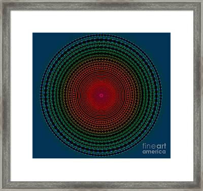 Illuminate Dark Circle  Framed Print by Atiketta Sangasaeng