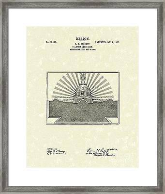 Illuminated Sign Design 1907 Patent Art Framed Print by Prior Art Design