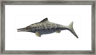 Illustration Of A Prehistoric Framed Print by Sergey Krasovskiy