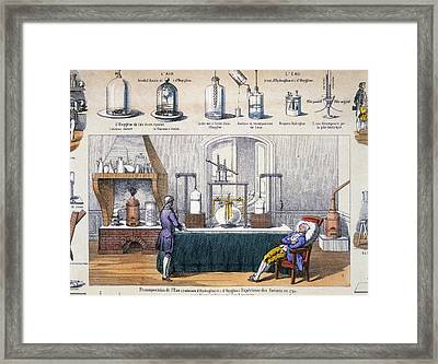 Illustration Of Thermoscope Framed Print by Dr Jeremy Burgess