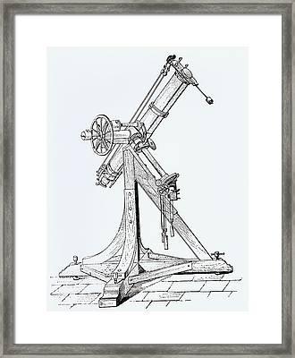 Illustration Showing Koenigsberg Heliometer Framed Print by Dr Jeremy Burgess