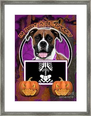 I'm Just A Lil' Spooky Boxer Framed Print by Renae Laughner
