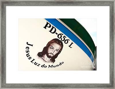 Image Of Jesus Framed Print by Gaspar Avila