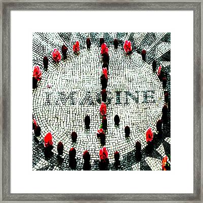 Imagine Peace Licensing Art Framed Print by Anahi DeCanio