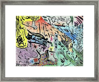 Imaginery Landscape 1 Framed Print by Valeria Jye