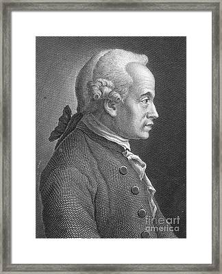 Immanuel Kant, German Philosopher Framed Print by Photo Researchers