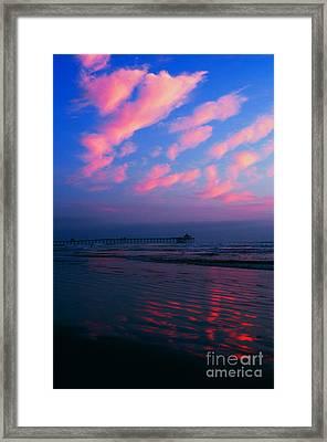 Imperial Beach At Dusk Framed Print by Sabino Cruz