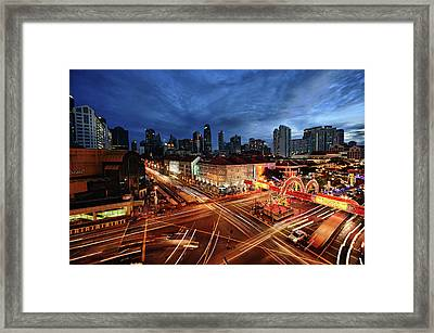 Impressive Water Dragon On Street Framed Print by Andrew JK Tan
