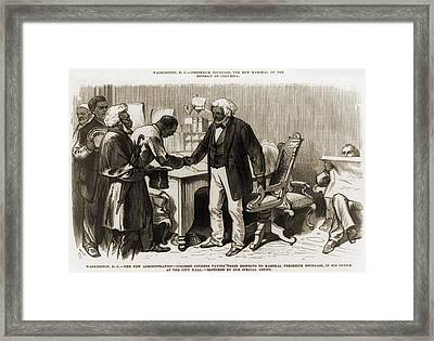In 1877 Frederick Douglass 1818�1895 Framed Print by Everett