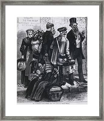 In A Strange Land--asking The Framed Print by Everett