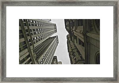 In Between Skyscrapes Framed Print by Malin Andersson