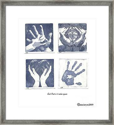 In His Hands Framed Print by Amanda McIntyre