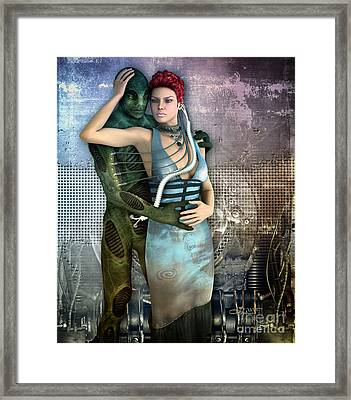 In Love With An Alien Framed Print by Jutta Maria Pusl