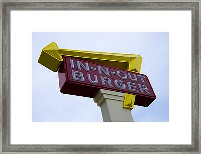 In-n-out IIi Framed Print by Ricky Barnard