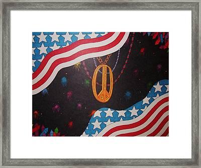 In Peace We Trust Framed Print by Steve Boisvert