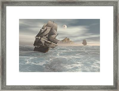 In Pursuit Framed Print by Claude McCoy