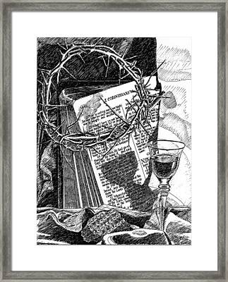 In Remembrance Of Me Framed Print by Rom Galicia