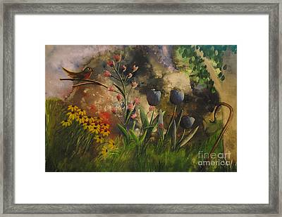 In The Beginning Framed Print by Barbara McNeil