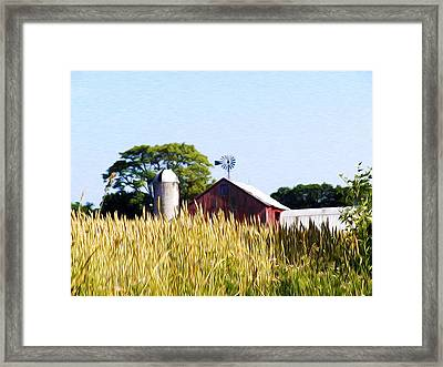 In The Farmers Field Framed Print by Bill Cannon
