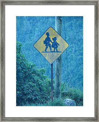 In The Hills Of Saint Ann Parish Framed Print by K Walker