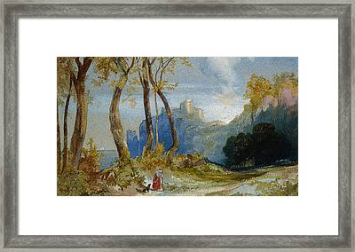In The Hills Framed Print by Thomas Moran