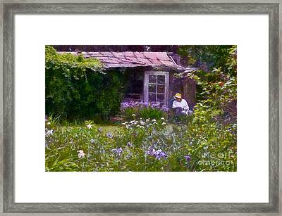 In The Iris Garden Framed Print by Susan Isakson