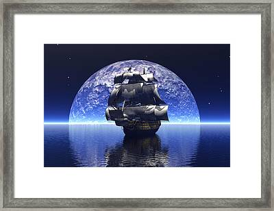 In The Light Of The Silvery Moon Framed Print by Claude McCoy