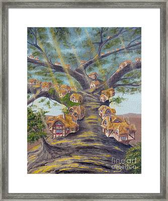 In The Lorn Tree From Arboregal Framed Print by Dumitru Sandru
