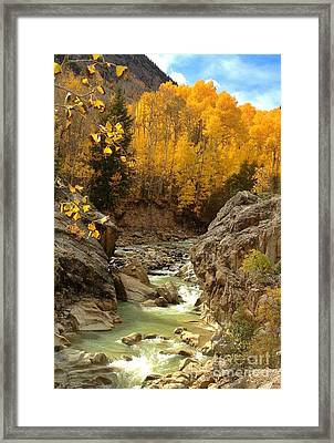In The Rockies Framed Print by Phil Huettner