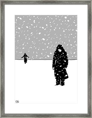 In The Snow Framed Print by Giuseppe Cristiano