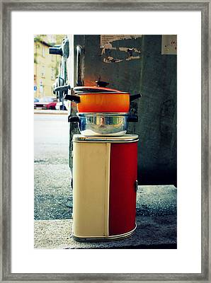 In The Trash Framed Print by Mara Barova