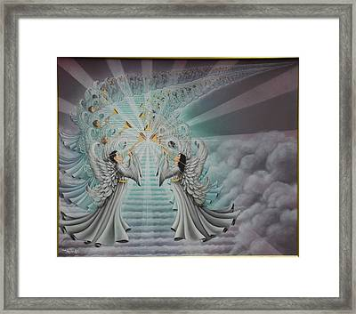 In The Twinkling Of An Eye Framed Print by Ruth Gee