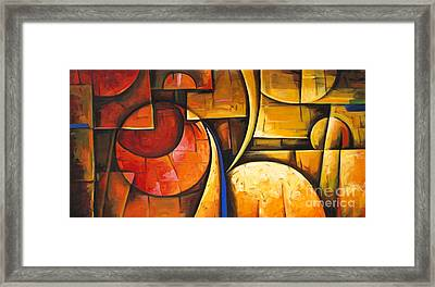 Inception Of Abstract 6 Framed Print by Uma Devi
