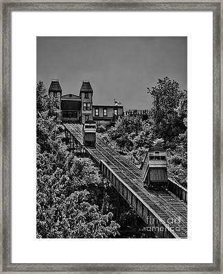 Incline Bw Framed Print by Arthur Herold Jr