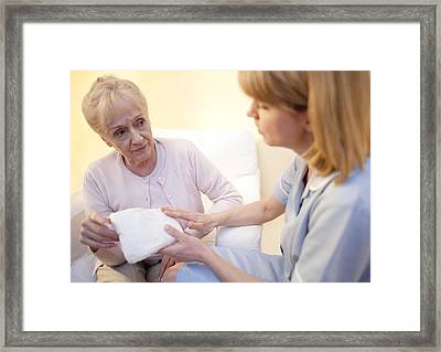 Incontinence Pad Framed Print by