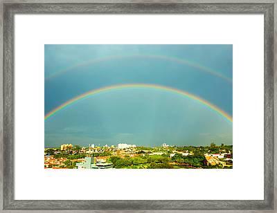 Incredible Rainbow Framed Print by Wagner Macedo