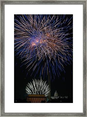 Independence Day In Dc 5 Framed Print by David Hahn