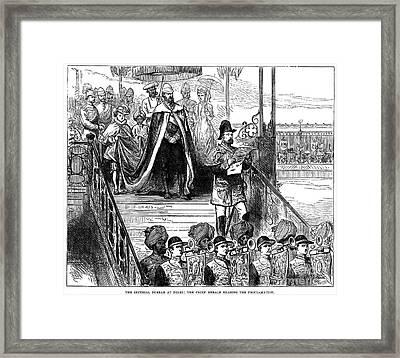 India: Imperial Durbar Framed Print by Granger
