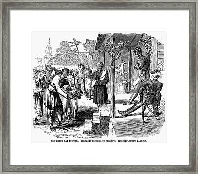 India: New Years Day, 1859 Framed Print by Granger