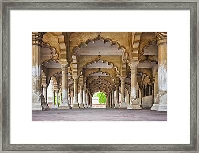 India, Uttar Pradesh, Agra, Agra Fort, Hall Of Public Audience Framed Print by Bryan Mullennix