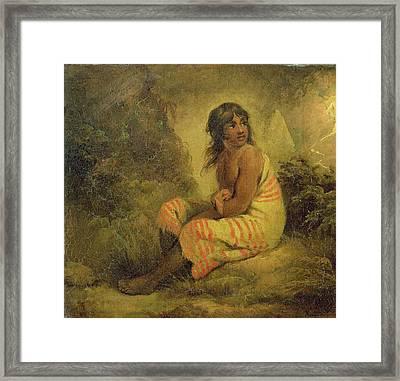 Indian Girl Framed Print by George Morland