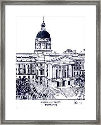 Indiana State Capitol Framed Print by Frederic Kohli