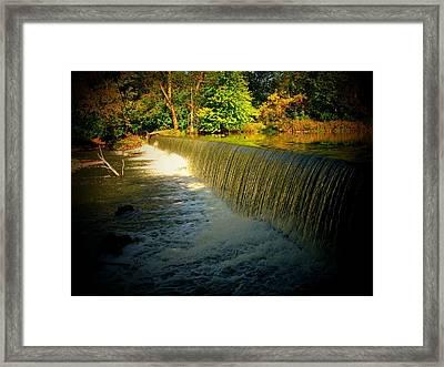 Indiana Waterfall Framed Print by Joyce Kimble Smith