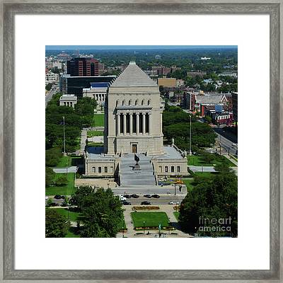 Indiana World And War Memorial Framed Print by Rob Banayote