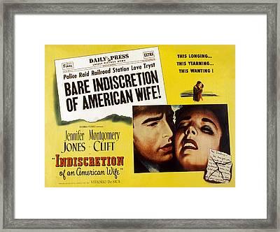 Indiscretion Of An American Wife, Aka Framed Print by Everett