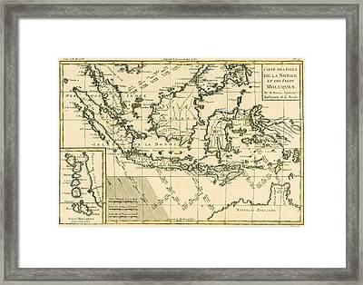 Indonesia And The Philippines Framed Print by Guillaume Raynal