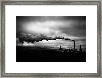 Industrial Eruption Framed Print by Ilker Goksen